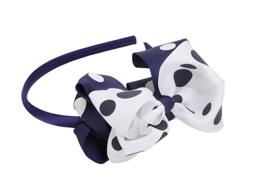French Toast Bow Headband Polka Dot