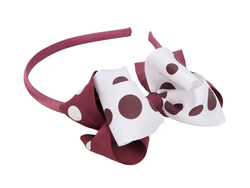 French Toast Bow Headband, Polka Dot