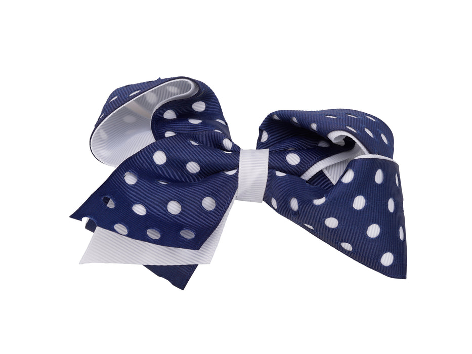 French Toast Cut Out Dots Bow Barrette