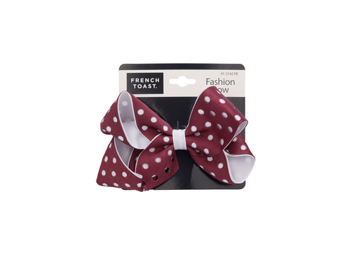 French Toast Two Tone Bow Barrette