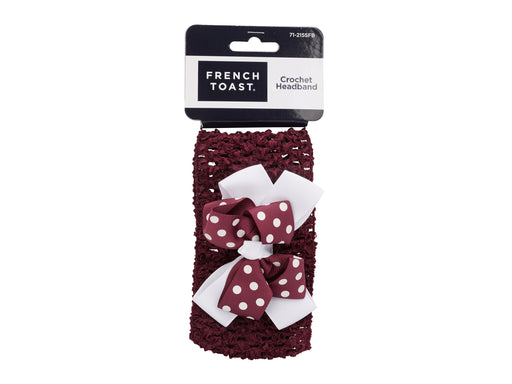 French Toast Crochet Headband w/Bow