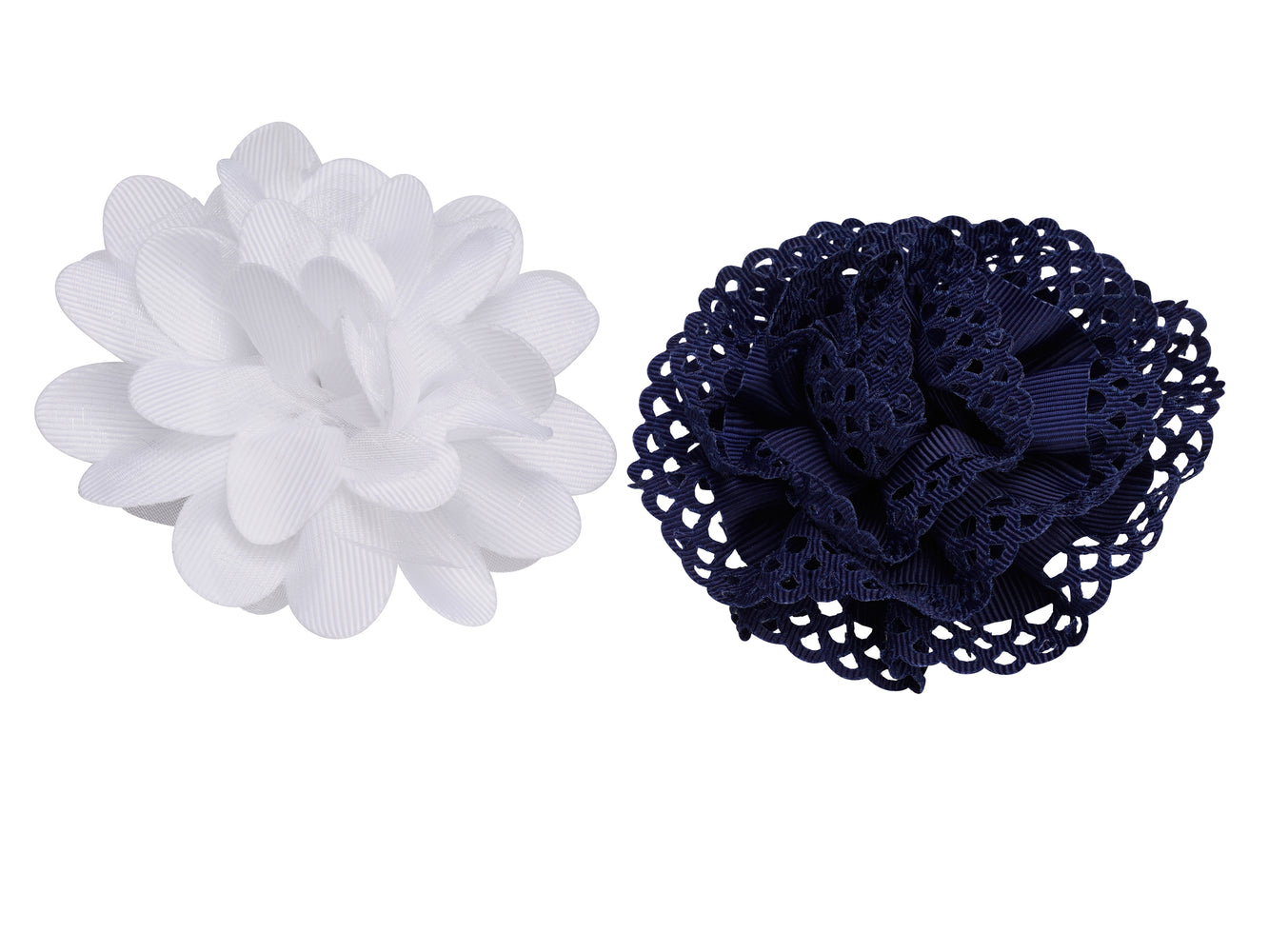 French Toast Bow Chiffon Flower & Eyelet, 2 Pack