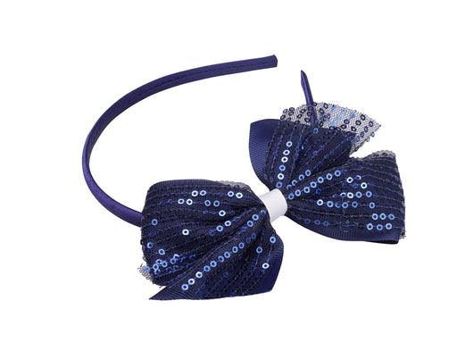 French Toast Headband with Sequined Bow