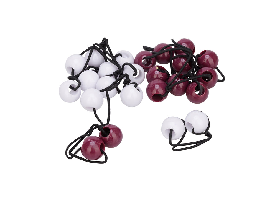 French Toast 20mm Ball Ponytail, 12 Pack