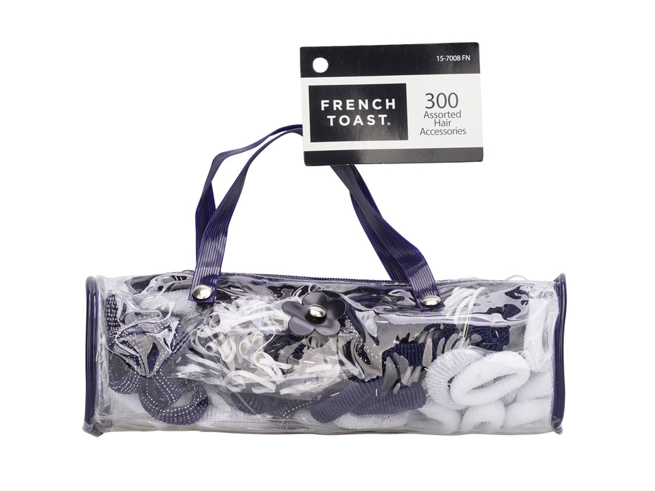 French Toast Hair Accessories Combo Bag, 300-pack