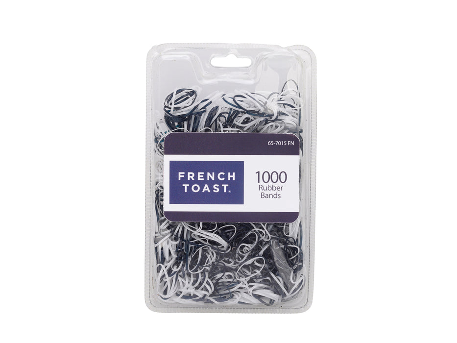 French Toast Assorted Rubber Bands, 1000 Piece