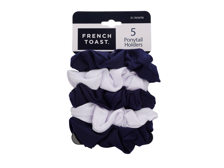 French Toast Twister Ponytail Holders, 5 Pack