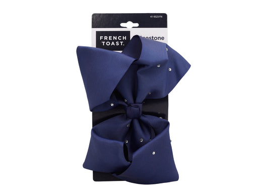 French Toast Jumbo Barrette Bow w/Stones
