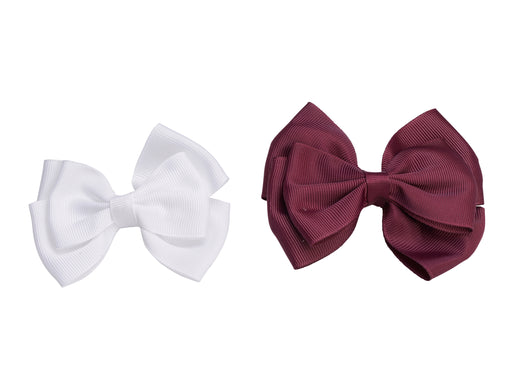French Toast Two Layer Bow Barrettes, 2 Pack