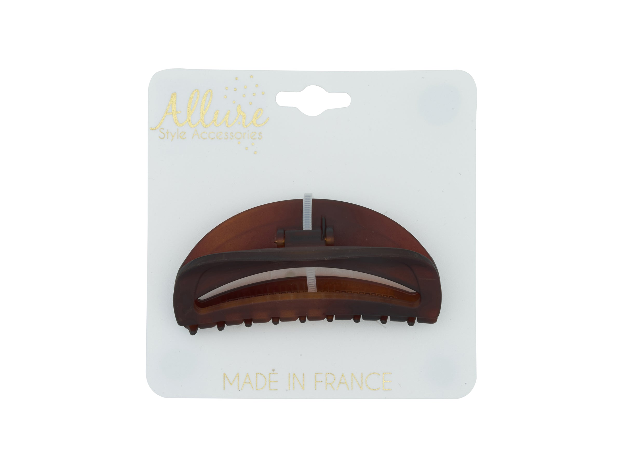 Allure Handmade Tortoise Jaw Clip, Matte Finish