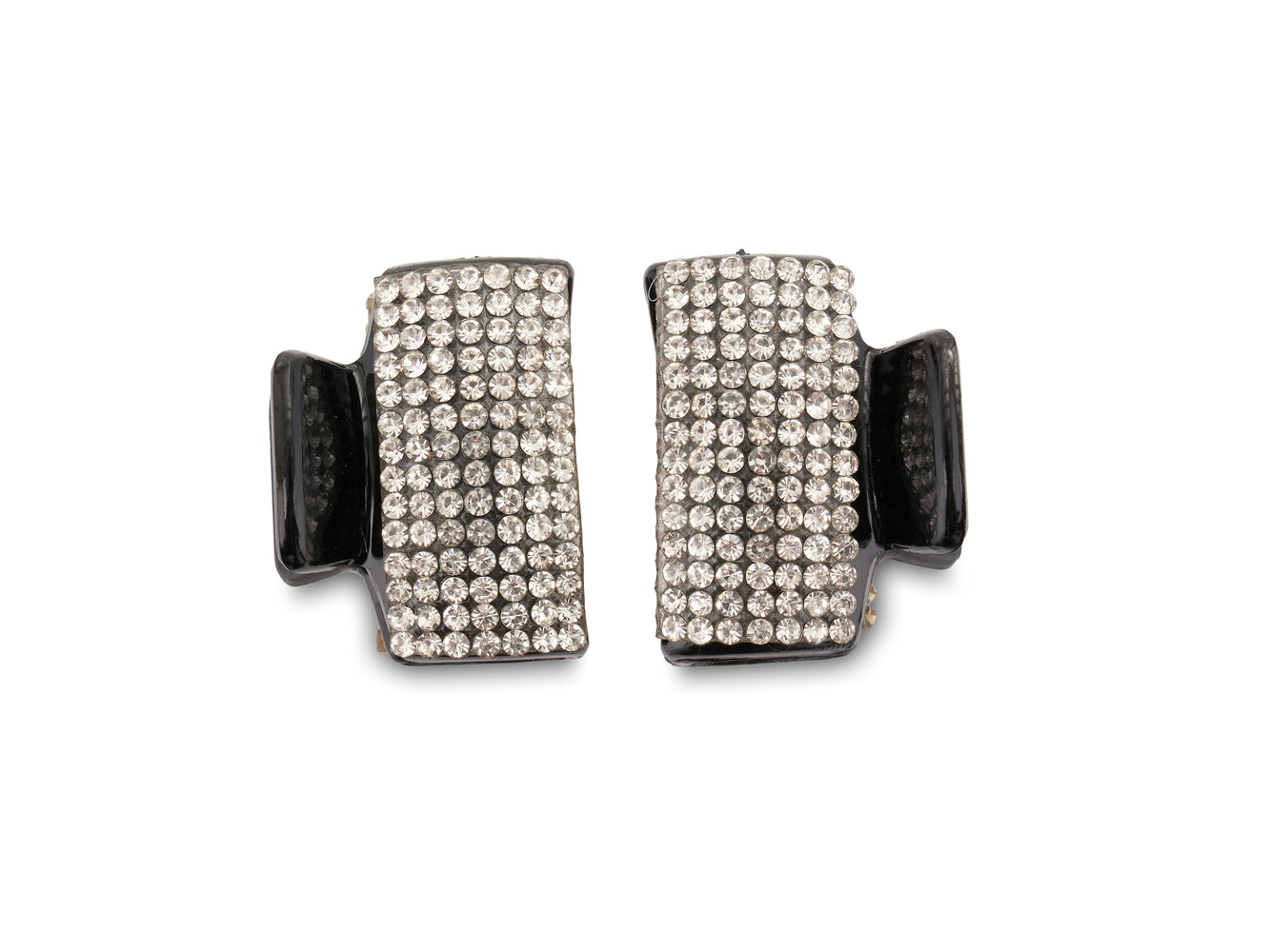 Allure Rhinestone & Black Jaw Clips