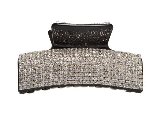 Allure Rhinestone on Black Large Jaw Clip