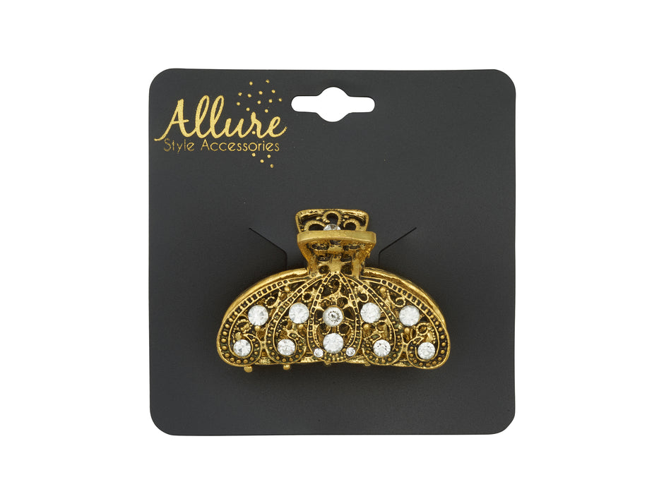 Allure Metal & Rhinestone Medium Jaw Clip