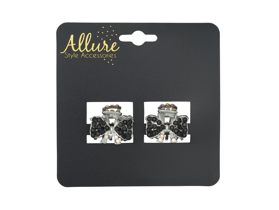 Allure Metal & Rhinestone Small Jaw Clips
