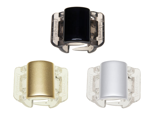 Linziclip Mini 3 Pack - Black, Gold & Silver