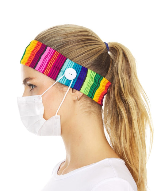 Nylon Headband with Buttons