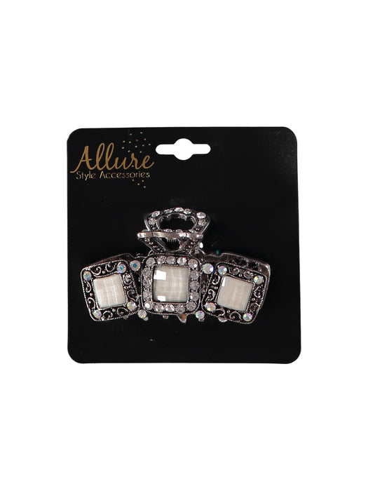 Allure Rhinestone with Stone Accent Large Jaw Clip