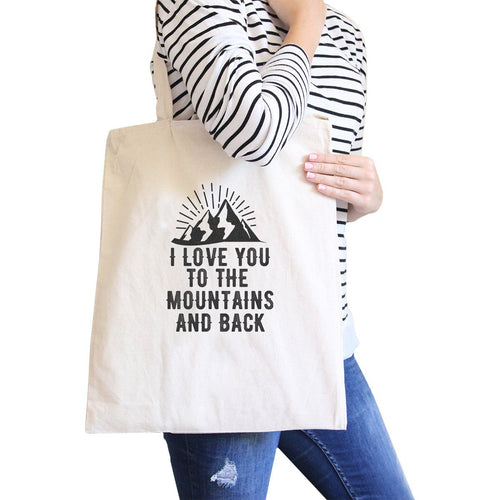Mountain And Back All-Purpose Cotton Natural Canvas Tote Bag