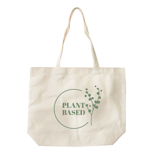 Plant Based All-Purpose Cotton Natural Canvas Tote Bag