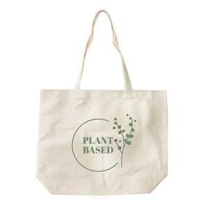 Plant Based All-Purpose Heavy Cotton Natural Canvas Tote Bag