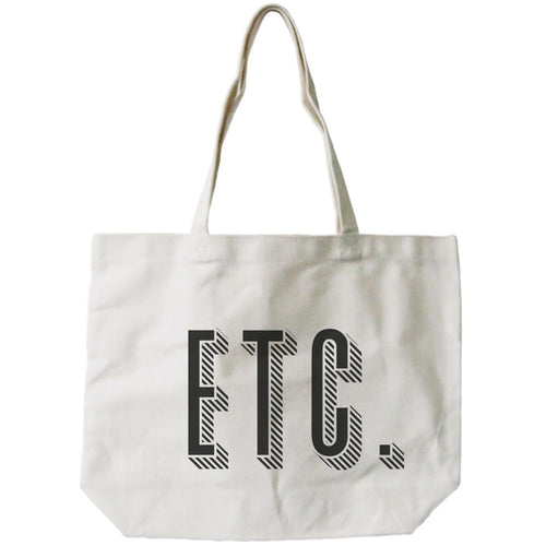 Etc. All-Purpose Cotton Natural Canvas Tote Bag