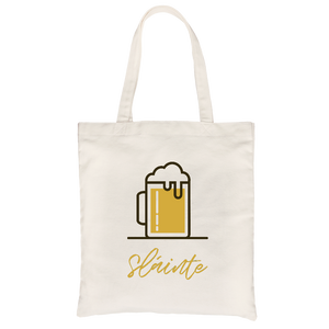 Sláinte All-Purpose Cotton Natural Canvas Tote Bag