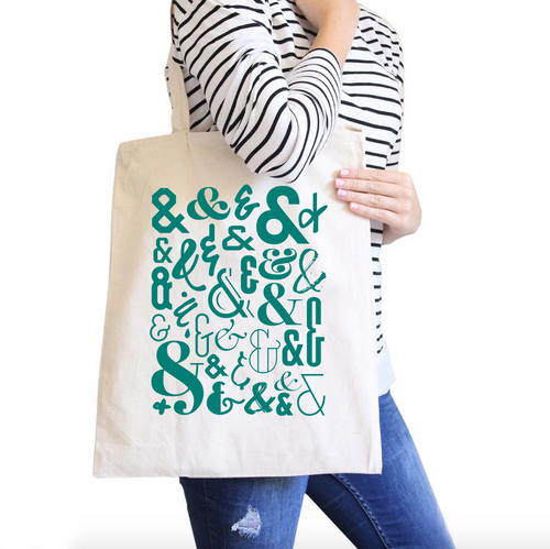 Ampersand All-Purpose Cotton Natural Canvas Tote Bag