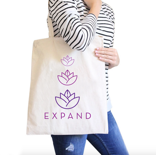 Expand All-Purpose Heavy Cotton Natural Canvas Tote Bag