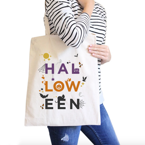 Halloween All-Purpose Cotton Natural Canvas Tote Bag