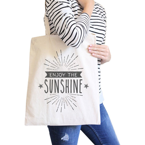 Enjoy The Sunshine All-Purpose Cotton Natural Canvas Tote Bag