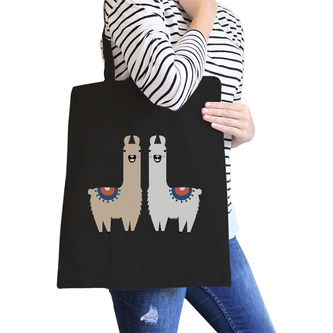Llama All-Purpose Cotton Natural Canvas Tote Bag