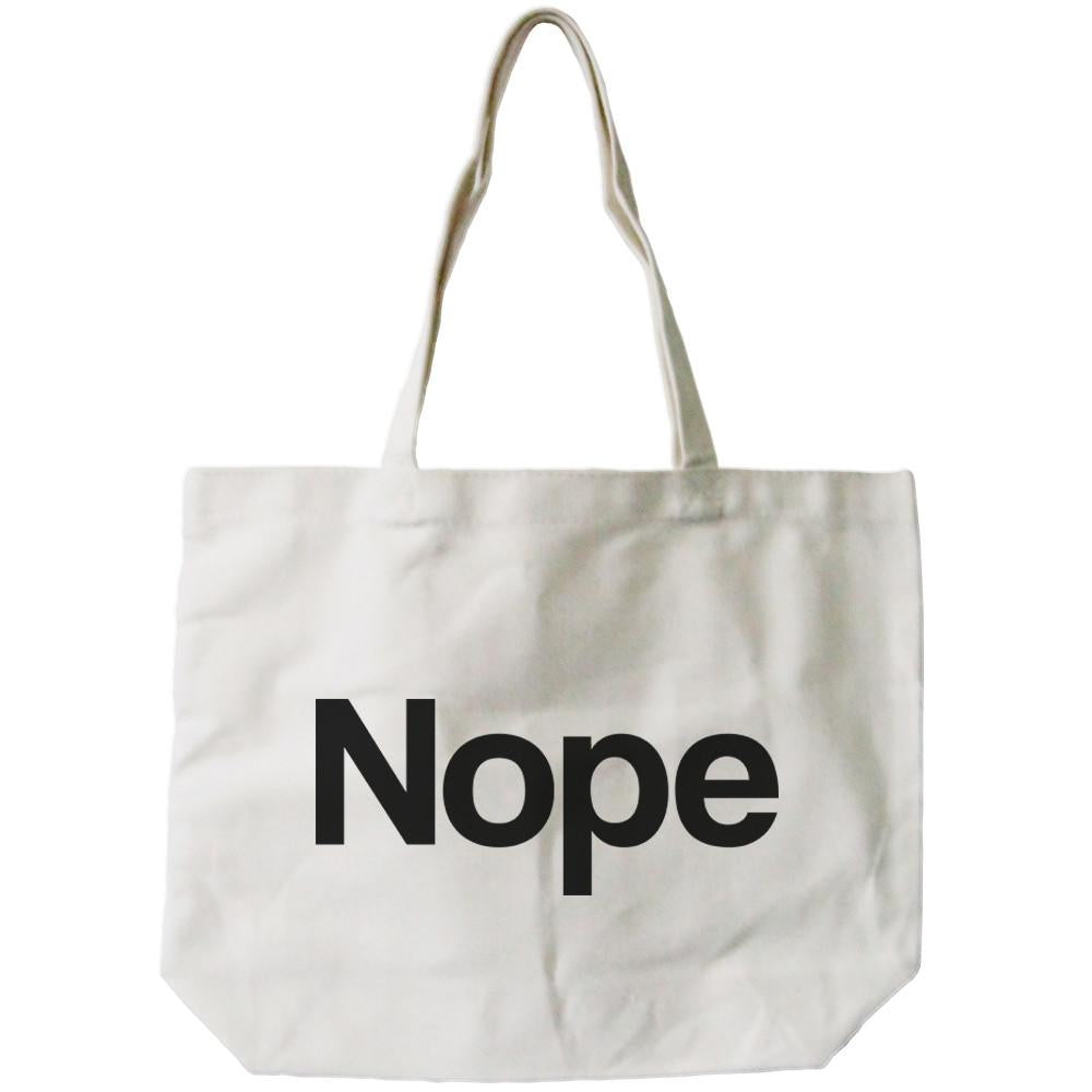 Nope All-Purpose Cotton Natural Canvas Tote Bag
