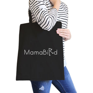 MamaBird All-Purpose Heavy Cotton Black Canvas Tote Bag