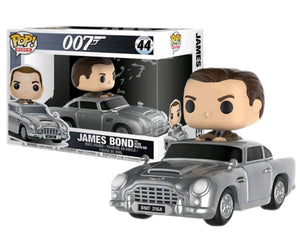 "Funko Pop Ride 007 ""James Bond in Ashton Martin"" #44 Mint"