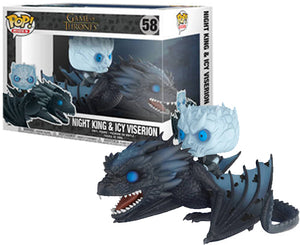 "Funko Pop Ride Game of Thrones ""Night King and Icy Viserion"" #58 Mint"