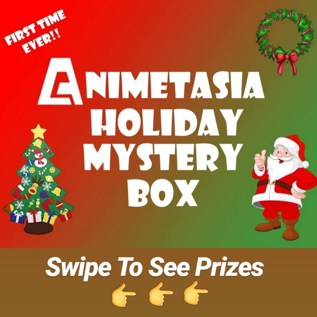 ANIMETASIA $59.95 HOLIDAY MYSTERY BOX + MYSTERY RAFFLE GIVEAWAY