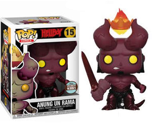 "Funko Pop Hellboy with Crown ""Anung Un Rama"" #15 Specialty Series Mint"