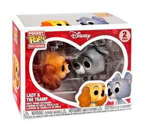"Funko Pop Keychain Disney ""Lady & The Tramp"" Two-Pack Mint"