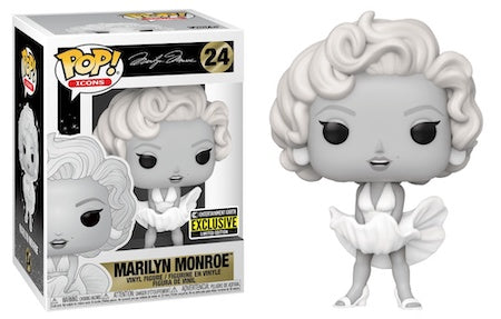 Funko Pop Marilyn Monroe Black & White Vinyl Figure Entertainment Earth Exclusive INSTOCK NOW