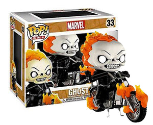 "Funko Pop Ride Marvel ""Ghost Rider"" #33 Glow in the Dark PX Exclusive Mint"