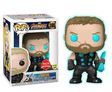 "Funko Pop Asia Exclusive Infinity Wars ""Thor"" #286 Glow in the Dark  Red Sticker"