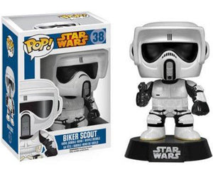 "Funko Pop Star Wars ""Biker Scout"" #38 Mint Blue Box"