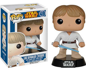 "Funko Pop Star Wars ""Luke Skywalker Tatooine"" #49 Mint Blue Box"
