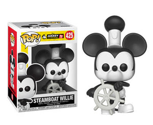 "Funko Pop Mickey Mouse 90th Anniversary ""Steamboat Willie"" #425 Mint"