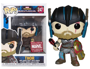 "Funko Pop Thor Ragnarok ""Thor"" #247 Marvel Collector Corps Exclusive Mint"