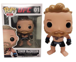 "Funko POP UFC ""Conor McGregor"" #01 Black Shorts Dethrone (Error Logo) Mint Condition"