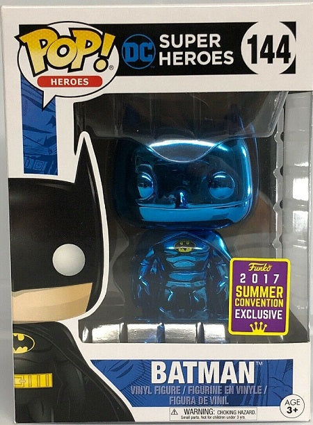 Funko Pop DC Super Heroes Batman Blue Chrome #144 2017 Summer Exclusive