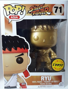 "Funko Pop Asia Street Fighter ""Ryu"" GOLD Chase"