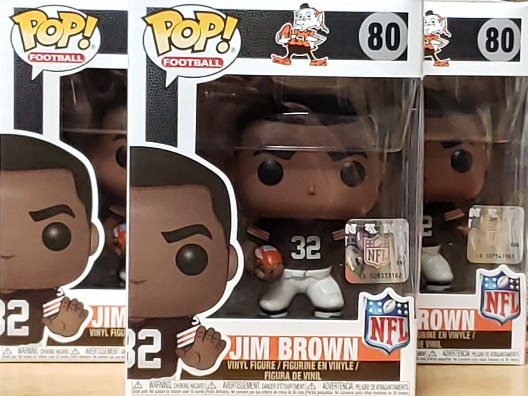 Funko POP! NFL  Legends #80 Jim Brown Cleveland Browns Football Mint w/ Protector FREE SHIP