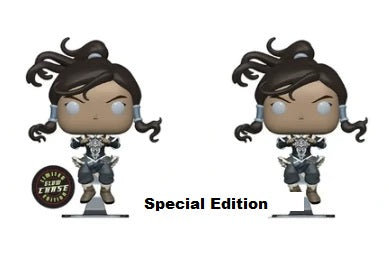 Funko Pop Legend Of Korra Regular + Chase Bundle Set Special Edition Sticker